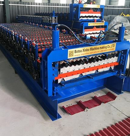 PLC Control 6KW Double Layer Roll Forming Machine